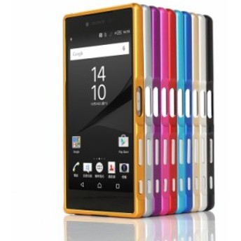 Sony Xperia Z5 Premium/docomo SO-03H 用 工具のいらない軽量アルミバンパー/フレーム/カバー【A670】