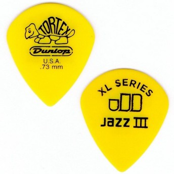 Dunlop (Jim Dunlop) 498 Tortex Jazz III XL ×10枚セット (0.73mm/イエロー)