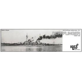 1/700 独巡洋戦艦デアフリンガー Eパーツ付・1914 レジンキット[コンブリック]《取り寄せ※暫定》