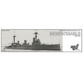 1/700 英巡洋戦艦インディファティガブル Eパーツ付1911 レジンキット[コンブリック]《在庫切れ》