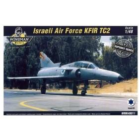 スーパーキット! 1/48 イスラエル空軍 クフィール TC2 練習機(2人乗り) プラモデル[ウイングマンモデル]《取り寄せ※暫定》