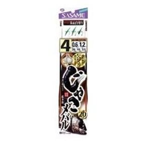 【ささめ針】にんにく漬け じゃこメバル(朱&白塗ミックス) 4−0.6(M-121)
