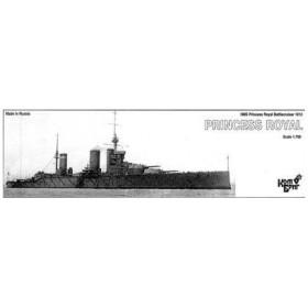 1/700 英巡洋戦艦プリンセス・ロイアル・1912 レジンキット[コンブリック]《在庫切れ》