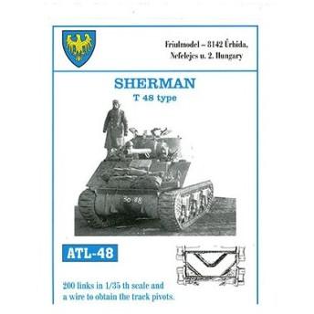 1/35スケール 金属製可動履帯シリーズ シャーマン T48タイプ(再販)[フリウルモデル]《在庫切れ》