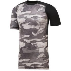 リーボック reebok メンズ トレーニング ウェア 半袖 シャツ ワンシリーズ ACTIVCHILL Comp カモグラフィック ショートスリーブTシャツ EBM55 CD5209 ブラック