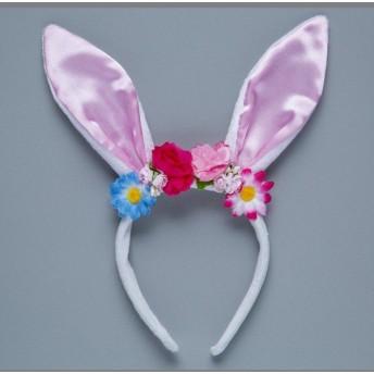 ハロウィン フラワーうさみみカチューシャ ES-8004 友愛玩具 YOU&I パーティ 仮装 イベント コスプレ 誕生日 パーティ