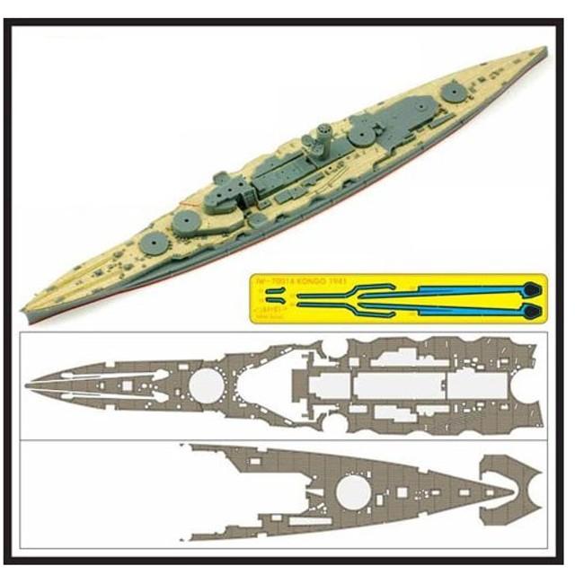 IWシリーズ 1/700 艦船用木製甲板 日本海軍 戦艦 金剛 1941用 (F社431222/421803用)[インフィニモデル]《在庫切れ》
