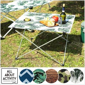 ALL ABOUT ACTIVITY ポータブルテーブル 軽い 軽量 簡単 組み立て 収納 持ち運び おしゃれ テーブル アウトドア キャンプ バーベキュー