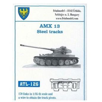 1/35スケール 金属製可動履帯シリーズ AMX-13 鋼製履帯(再販)[フリウルモデル]《在庫切れ》