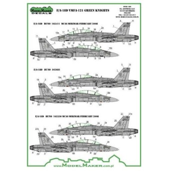 1/72 F/A-18D ATARS 「VMFA-121」 レジン改造パーツ付(再販)[Model Maker]《在庫切れ》