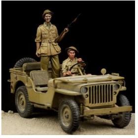 1/35 イギリス陸軍 1/4トンMB ドライバー& 歩兵セット (T社用)[ザ・ボディ]《在庫切れ》