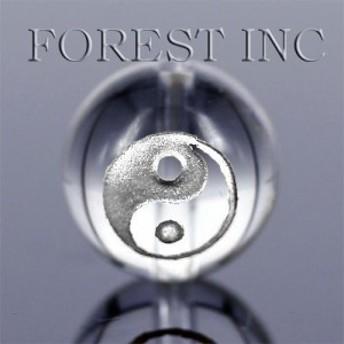 天然石 銀彫り 太極 /粒売り 水晶銀彫り 約12mm 1個〔I5-27-2S〕