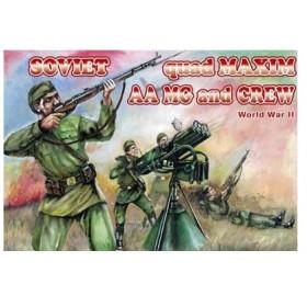 1/72 ソ連マキシム対空機銃&クルーWW2 プラモデル(ソフトプラ)(再販)[オリオン]《取り寄せ※暫定》