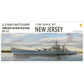 1/350 米海軍 戦艦 ニュージャージー (BB-62) プラモデル[Very Fire]《在庫切れ》