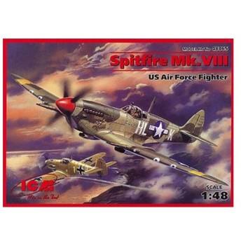1/48 スピットファイア Mk.VIII (USAAF) プラモデル(再販)[ICM]《取り寄せ※暫定》