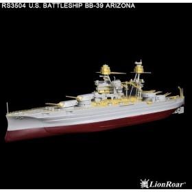 RSシリーズ 1/350 米・戦艦 アリゾナ用(HB社用) ディテールアップパーツセット[ライオンロア]《在庫切れ》