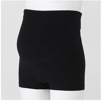 検診便利 パンツ妊婦帯(ブラック・M)