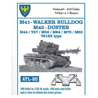 1/35スケール 金属製可動履帯シリーズ M41ウォーカーブルドッグ/M442 Duster/M44 T37/M53/M84(T91E3タイプ)(再販)[フリウルモデル]《在庫切れ》