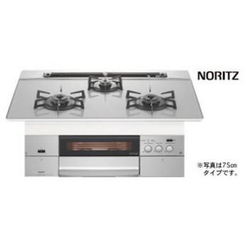 NORITZ N3WM3PWAS6STEビルトインコンロ S-BLINK revor ●シルバーグレーガラストップ グレーホーローゴトク 60cm幅★