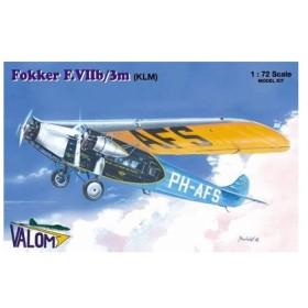 1/72 フォッカーF.VIIb/3m3発機KLMオランダ航空 プラモデル[バロムモデル]《取り寄せ※暫定》