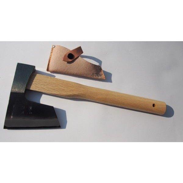 越後三条打刃物 サック入 450g 360mm (バキン) 割込 水野製作所 焼曲柄 馬斧