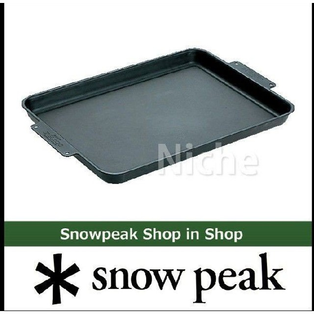 スノーピーク クッカー グリルプレート 黒皮鉄板 GR-006 アウトドア 鉄板 キャンプ