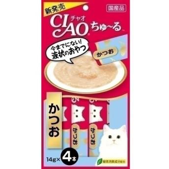 いなばペットフード CIAOちゅ〜る かつお14g×4 (LP)(TC)キャットフード 猫用 フード 猫