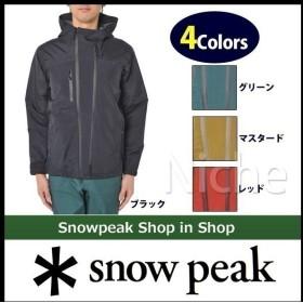 snow peak スノーピーク 3レイヤーレインジャケット (ユニセックス) JK-15SU001 キャンプ用品 アウトドア用品 レインウェア