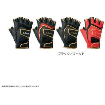 がまかつ GM7265 DBフィッシンググローブ(5本切S) ブラック/ゴールド L