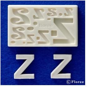 粘土 用具 押し型・抜き型 樹脂粘土用ミニ型抜き アルファベットZ