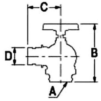 ターニングバルブ 90° カクダイ 652-701-65