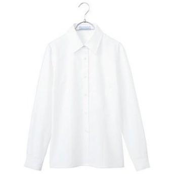 綿混カルゼブラウス SA031B 神馬本店 SA031B ホワイト/19