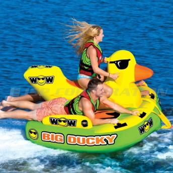 トーイングチューブ WOW/ワオ 3人乗り ビッグダッキー バナナボート ウォータートイ 浮き輪 アヒル 空気注入式 水上バイク ジェット ボード 牽引