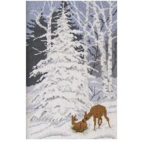 刺繍 輸入キット O.O.E. Bambi and White Christmas|クリスマス|デンマーク|プレゼント|