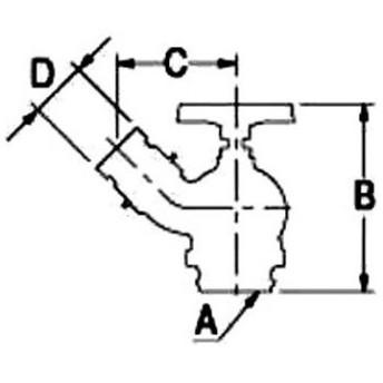 ターニングバルブ 45° カクダイ 652-700-65