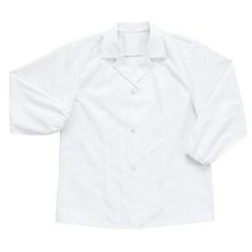 女性用白衣 襟付き長袖 13000 Big Run(シンメン) 13000 白/4L