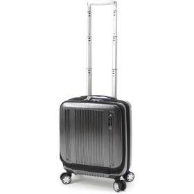 BERMAS PRESTIGE II バーマス プレステージ2 4輪 フロントオープン コインロッカーサイズ スーツケース 21L 機内持込 TSAロック付 ブラック 60255-BK