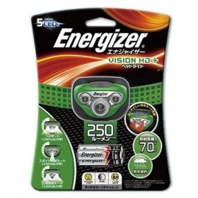 エナジャイザー ヘッドライト HDL250GR グリーン