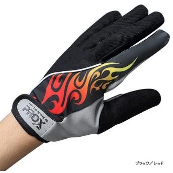 【特価】プロックス (PROX) ジギンググローブ速乾 ブラック/レッド