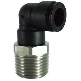 チヨダ ファイブSUSメイルエルボ 10mm・R1/2 FS10-04ML 流体継手・チューブ・チューブ継手