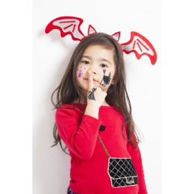 KIDSシール 魔女と黒猫 キッズ ハロウィン ハロウィン 仮装 パレード メイクアップ コスプレ