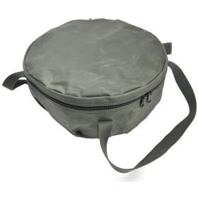 アソビト asobito 12インチ 深型キャンプオーブン 防水帆布ケース オリーブダッチオーブンケース 経年変化 LODGE ロッジ