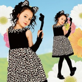 レオニーワンピース 黒 子供140 コスプレ 衣装 ハロウィン キッズ