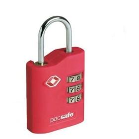 パックセーフ PacSafe プロセーフ700 レッド セキュリティロック ダイヤル式 鍵 海外旅行用 錠前 防犯グッズ TSA認可