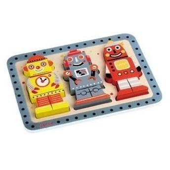 豊島製作所 J07026 チャンキーパズル・ロボット 〔つみき・木製玩具〕