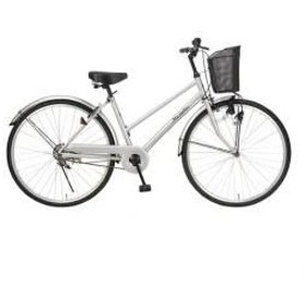 MYPALLAS シティサイクル26・ベーシック シルバー M-512S 自転車