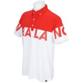 ニューバランス New Balance SPORT 色切替ビッグロゴプリント半袖ボタンダウンポロシャツ
