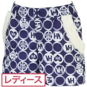 ビバハート VIVA HEART スマイリー&ロゴプリント 防寒ショートパンツ 012-72140 レディス ハーフパンツ