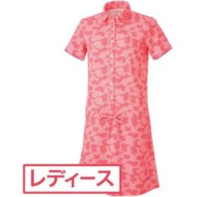 アディダス Adidas ゴルフウェア レディス ワンピース CLIMACOOL カモフラージュ 半袖ポロシャツドレス BR501 ワンピース