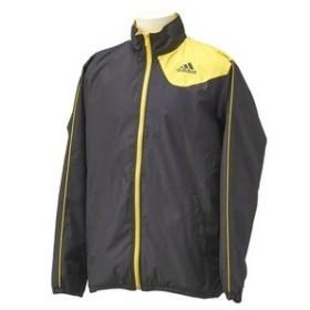adidas(アディダス) wd045 essentials fresh ウィンドブレーカー  ジャケット f47487 ブラック×ビビットイエロー mサイズ